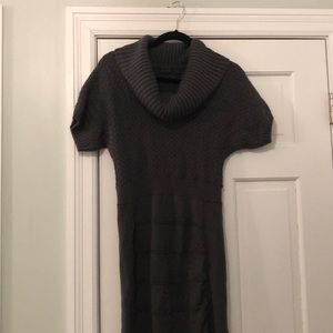 Gray Wool Sweater Dress